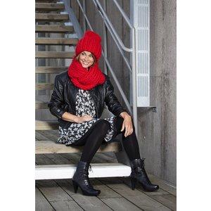 Billigtpyssel.se | Stickmönster - 4-dubbelstickad mössa och halsduk