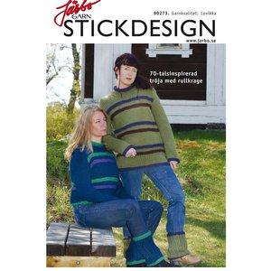Billigtpyssel.se | Stickmönster - 7o-talsinspirerad tröja med rullkrage + benvärmare