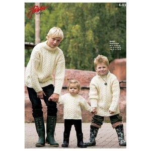 Billigtpyssel.se | Stickmönster - Aranstickad tröja med ståkrage