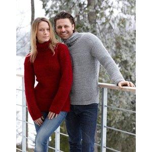 Billigtpyssel.se | Stickmönster - Dam och herrtröja i halvpatentmönster