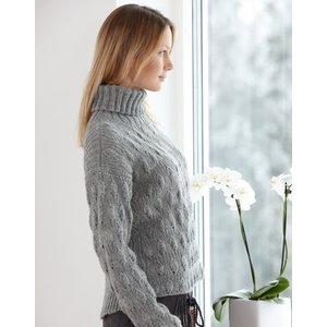 Billigtpyssel.se | Stickmönster - Damtröja med resårmönster