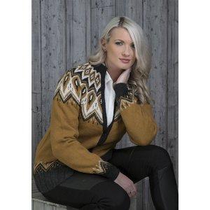 Billigtpyssel.se | Stickmönster Embla kofta ljusbrun  - Inklusive garn