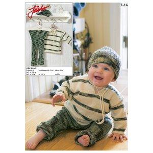 Billigtpyssel.se   Stickmönster - Farfarströja med ribbstickade tights & matchande mössa
