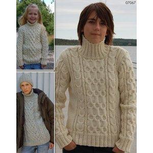 Billigtpyssel.se | Stickmönster - Flätstickade tröjor