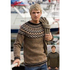 Billigtpyssel.se | Stickmönster - Isländsk tröja för honom
