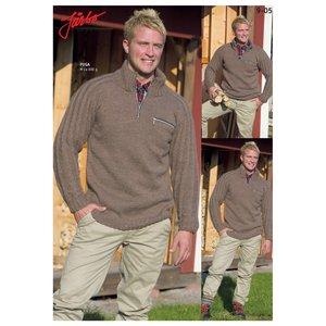 Billigtpyssel.se   Stickmönster - Jaktinspirerad tröja med bröstficka
