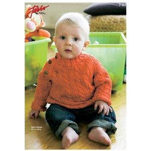 Billigtpyssel.se | Stickmönster - Kabelstickad klassiker (baby)