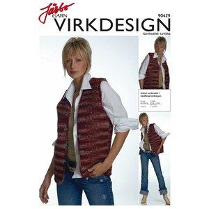 Billigtpyssel.se | Stickmönster - Krokad lovikkaväst i handfärgad ombré garn
