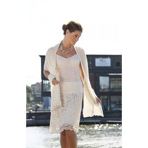 Billigtpyssel.se | Stickmönster - Mönsterstickad sjal och pulsvärmare