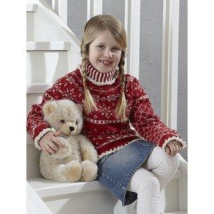 Billigtpyssel.se | Stickmönster - Mönsterstickad tröja (jul-fint)