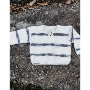 Billigtpyssel.se   Stickmönster - Mönsterstickad tröja (kragsnörning)