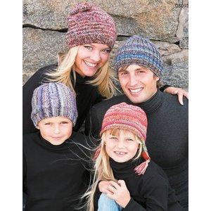Billigtpyssel.se | Stickmönster - Mössor till hela familjen