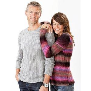 Billigtpyssel.se | Stickmönster - Ribbade tröjor till dam