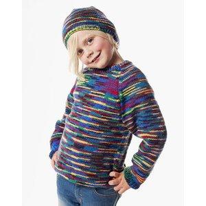 Billigtpyssel.se | Stickmönster - Slätstickad tröja och mössa