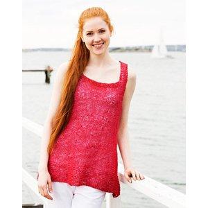 Billigtpyssel.se | Stickmönster - Slätstickat linne med rätstickade kanter