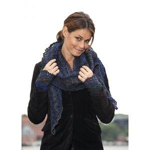 Billigtpyssel.se | Stickmönster - Spetsmönsterstickad sjal och pulsvärmare