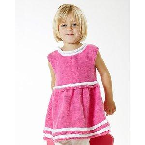 Billigtpyssel.se | Stickmönster - Stickad klänning (barn)
