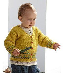 Billigtpyssel.se   Stickmönster - Stickad tunika och kofta med mönsterbård