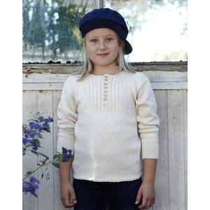 Billigtpyssel.se | Stickmönster - Tröja med knappkrage (juniorstorlekar)