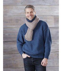 Billigtpyssel.se | Stickmönster - Tröja med mönster och halsduk
