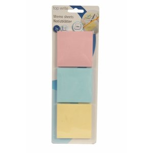 Billigtpyssel.se | Sticky Notes Kvadrat - Pastell