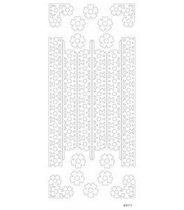 Billigtpyssel.se | Sticky shapes  - Hydranea bård