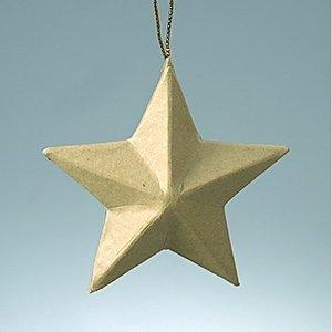 Billigtpyssel.se | Stjärna av kartong ø 8 cm - 5 spetsig