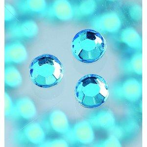 Billigtpyssel.se | Strasstenar ø 3-5 mm - akvamarin 20-pack påstrykes