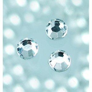 Billigtpyssel.se   Strasstenar ø 3-5 mm - kristall 20-pack påstrykes