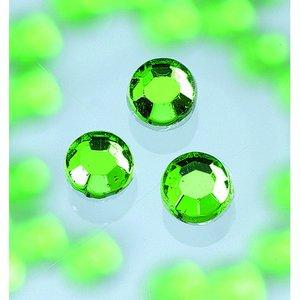 Billigtpyssel.se | Strasstenar ø 3-5 mm - ljus smaragd 20-pack påstrykes