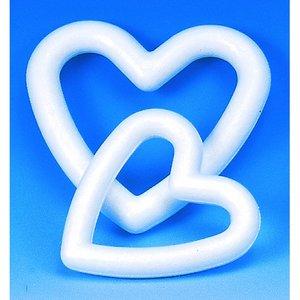 Billigtpyssel.se | Styrolitform 150 mm - hjärtformad ram