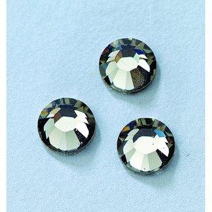 Billigtpyssel.se | Swarovski strass platta stenar ø 3-5 mm - svart diamant
