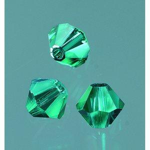 Billigtpyssel.se | Swarovskipärlor facetterade 4 mm - smaragd 25 st.
