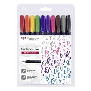 Billigtpyssel.se   Tombow Brush pen Fudenosuke Hård - 10 pennor