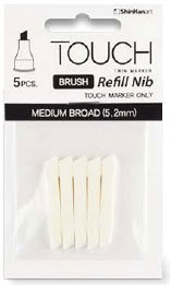 Billigtpyssel.se | Touch Brush Marker Spets 5st - Medium Bred