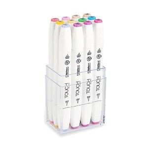 Billigtpyssel.se | Touch Twin Brush Marker 12st - Pastel Color