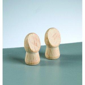 Billigtpyssel.se | Trähänder L 24 x 12 mm - 30-pack - obehandlat 6 mm borrhål
