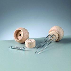 Billigtpyssel.se   Trähandtag för 1 filtnål - 20-pack - 3 omonterade delar