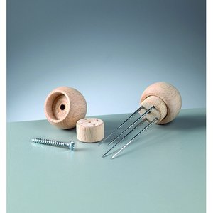 Billigtpyssel.se | Trähandtag för 4 filtnålar - 1 st. 3 omonterade delar
