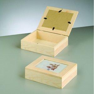 Billigtpyssel.se   Trälåda med ram 19 x 15