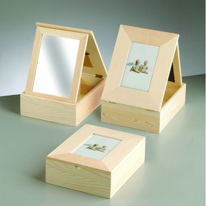 Billigtpyssel.se | Trälåda med ram 24 x 19 x - obehandlat