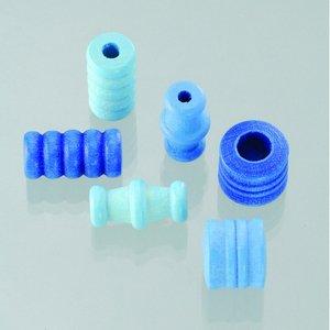 Billigtpyssel.se | Träpärlor - blåmix 28 st. färg-form mix