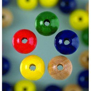 Billigtpyssel.se | Träpärlor - blandade färger