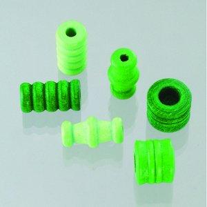 Billigtpyssel.se | Träpärlor - grönmix 28 st. färg-form mix