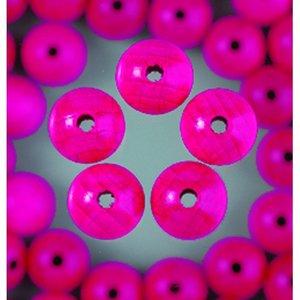 Billigtpyssel.se | Träpärlor - ljust rosa