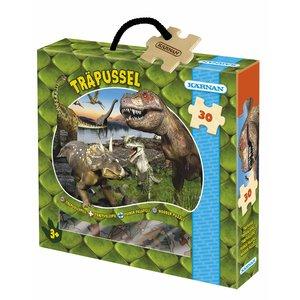 Billigtpyssel.se | Träpussel Dinosaurier