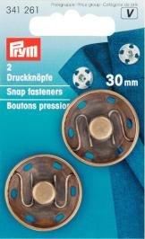 Billigtpyssel.se | Tryckknappar (fastsys) mässing 30mm ant.br 2 st