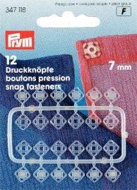 Billigtpyssel.se | Tryckknappar (fastsys) plast genomskinliga eckig 7mm 12 st