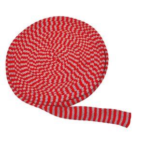 Billigtpyssel.se | Tubstickad väv 3 cm röd/grå