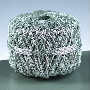 Billigtpyssel.se | Tunt snöre 2 mm - silver 10 m
